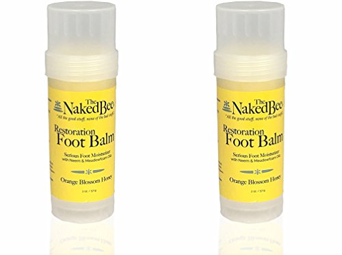 The Naked Bee Foot Balm Twist Up Tube 2.0 Oz. - 2 Pack