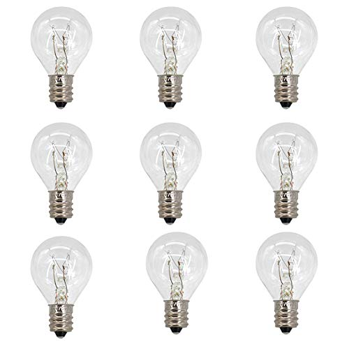 9 Piece 20 Watt G30 Wax Warmer Bulbs with E12 Base Incandescent Globe Bulbs for Middle Wax Warmer