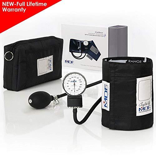 MDF® Calibra® Aneroid Blutdruckmessgerät - professionelles Blutdruckmessgerät - Gratis-Parts-for-Life & Lebenslange-Garantie -Schwarz (MDF808M-11)