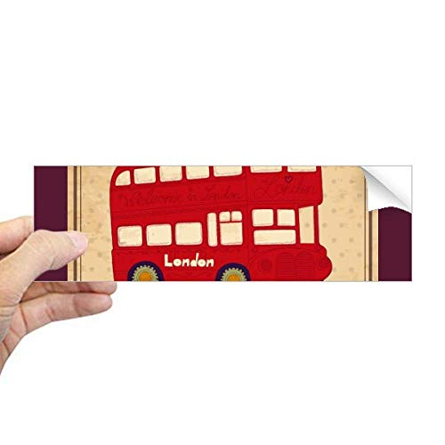UK London Dubbeldekker Bus Stempel Rechthoek Bumper Sticker Notebook Venstersticker