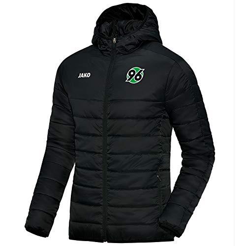 Jako Hannover 96 Steppjacke Winterjacke 2016/2017 schwarz Kinder schwarz/grau, 164