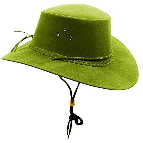 Kakadu Australia Damen Herren Sommerhut aus Mikrofaser mit Kinnband in tollen Farben Gras L