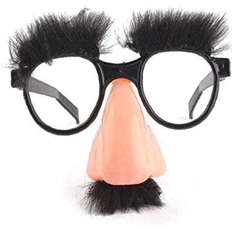 TOSSPER 1 Unid Divertido Disfraz Gafas Gafas Divertidas Juguete con Cejas De Nariz Grande Favores De Fiesta para Adultos Y Niños