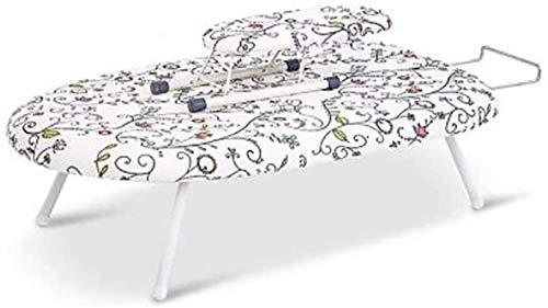 Tablero de planchado antideslizante Plancha, soporte de planchado de acero transpirable Portátil Ligero Portátil Manual de maniobras fáciles de navegación Trompeta plegable con marco de hierro 202129