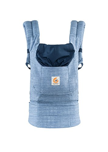 Ergobaby Original Award Winning Ergonomic Multi-Position Baby Carrier with X-Large Storage Pocket, Vintage Blue