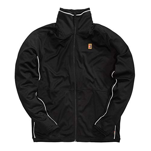 Desconocido M Nkct JKT Essntl Court Veste Homme, Noir/Blanc/Blanc, L