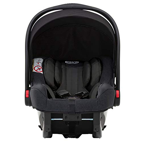 Graco SnugRide iSize Infant Car Seat, Midnight Black