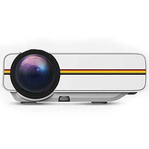 Tree YG400 Mini proyector LED HD portátil – Ordenador móvil Mini 1080P3D Proyector 200.5 * 145.5 * 75.3 mm Negro, Blanco