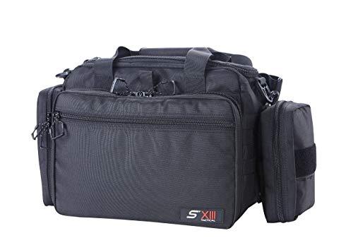 SXIII S13 RB2-BLK Tactical Pistol Range Bag 1000D Ballistic Denier (Light) (Black)