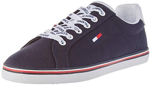 Tommy Jeans Essential Lace Up Sneaker, Zapatillas Mujer, Azul (Twilight Navy C87), 39 EU