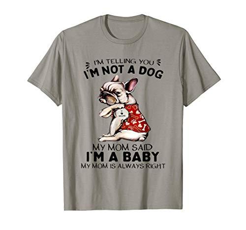 I Love Mom Tattoo French Bulldog Lovers Women Frenchie Mom T-Shirt