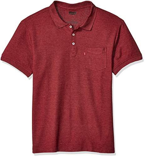 Levi's Herren Short Sleeve, Collared, Classic FIT Knit Shirt Poloshirt, Cabernet/Rillo, XX-Large
