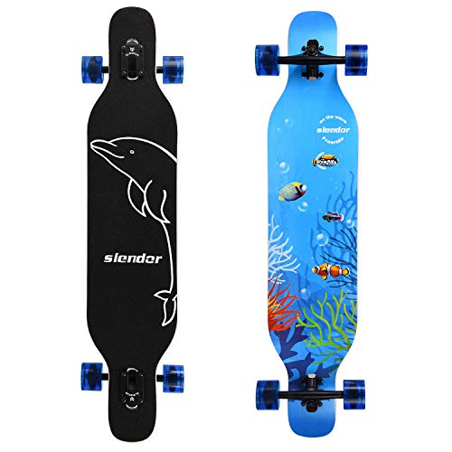 Slendor Longboard Skateboard 42 inch Drop Through Deck Complete Maple...