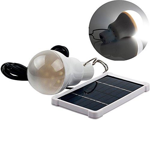Luci solari LED Luce solare PRODELI Lampade Solari Portatile Ricaricabile lampadina per campeggio, tenda, pesca, bianco 150LM