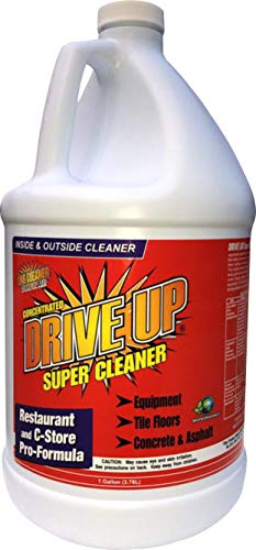 Drive Up Super Cleaner Concentrated Degreaser, 1 x 1 gal, Multi Purpose & Multi Surface, Safest Degreaser, Remove Motor Oil from Concrete, Industrial Strength, No Scrub Cleaning, (1 x 1 Gallon)