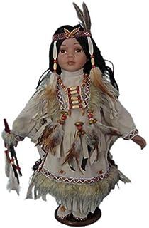 """Jmisa 16"""" Porcelain Indian Doll"""