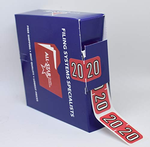 2020 Year Labels (2 Rolls) 1,000 Labels Total. 3/4