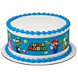 Whimsical Practicality Super Mario Bros Game on Edible Icing Image Cake Border Strips