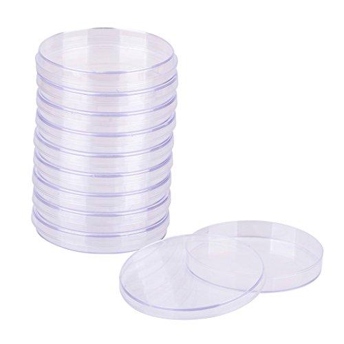 10 pcs Estéril Plástico Placas Petri para Bacteriana Levadura