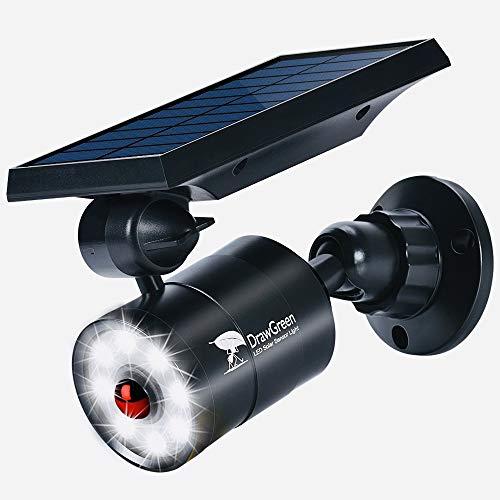 DrawGreen Solar Lights Outdoor Motion Sensor Aluminum,1400-Lumens Bright LED Spotlight 5-Watt(110W Equivalent),Wireless...