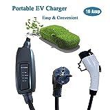 K.H.O.N.S. 16A Tipo 1 EV Cargador Cable de Carga para Tipo 1 Vehículos Eléctricos Caja de Carga J1772 16A Schuko 2 Pin EV Cables,5M,Bolsa