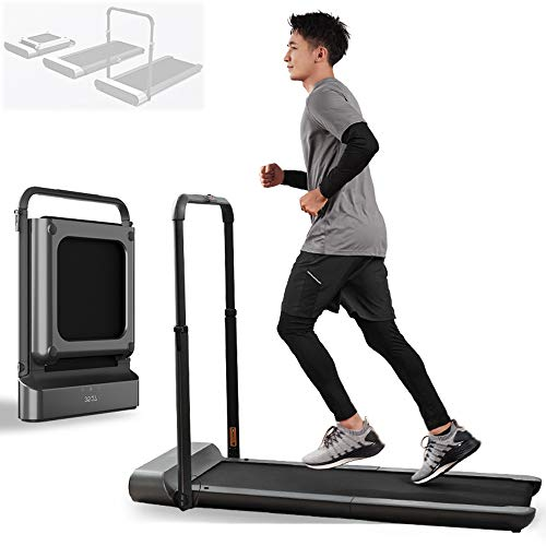 DELGC Smart Foldable Treadmill for Home, Treadmill Best Option for Both Running and Walking, A Truly Foldable That Takes 90% Less Space, Can Be Connected to Mobile App, Remote Control