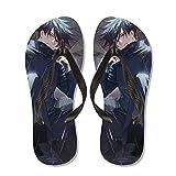 JINGXINA Jujutsu Kaisen Sandalias de Dedo de Anime/Pantuflas de fanático de Anime y Otaku/Chanclas de Anime/Zapatos de Ducha para Piscinas/Zapatos Antideslizantes/Pantuflas para Hombres y Mujeres