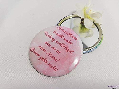Taschenspiegel Mamas ohne Flügel und Umhang, Geschenk, Geburtstag, Valentinstag, Weihnachten, als Dankeschön, zum Muttertag