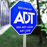 SWEETFULL 28' ADT Sign,ADT Security Signs with 6 Double-Sided Stickers Metal Yard Sign with Stake ,Heavy Duty Weather Resistance Sign(1 Pcs)