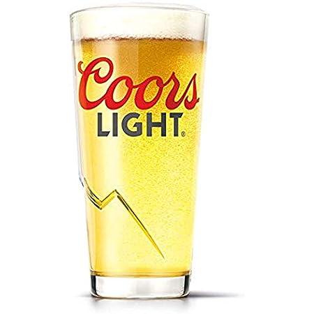 1 X COORS LIGHT pint glasses  New 2017 Design