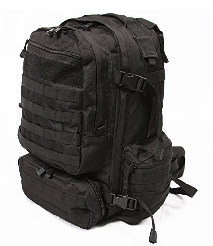 LA Police Gear Operator MOLLE Tactical, Military, Police Backpack Hydration Compatible-Black