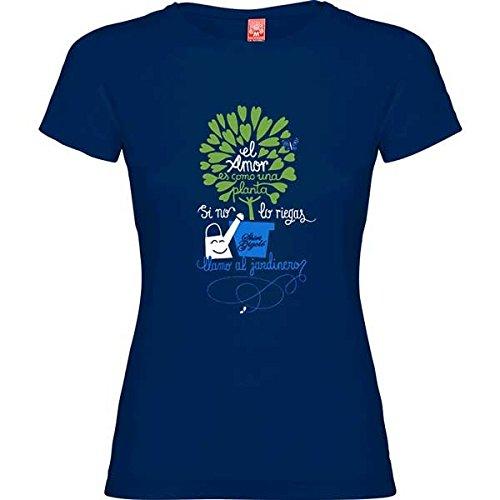 Rei Zentolo Jardinero - Camiseta Regular para Mujer, Color Azul Marino, Talla M