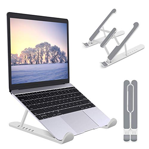 Laptop Stand,Foldable Portable Desk Laptop Stand,Ventilated Cooling Notebook Mount,ABS+Silicone+6-Levels Adjustable Ventilation Laptop Holder,Suitable for Most 10-17 Inch Laptops,Tablet PC(White)