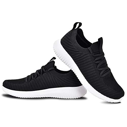 FILWO Running Shoes for Mens, Walking Shoes Gym Training Shoes Fitness Jogging Athletic Casual Sneaker 9.5W/8.5M US Black