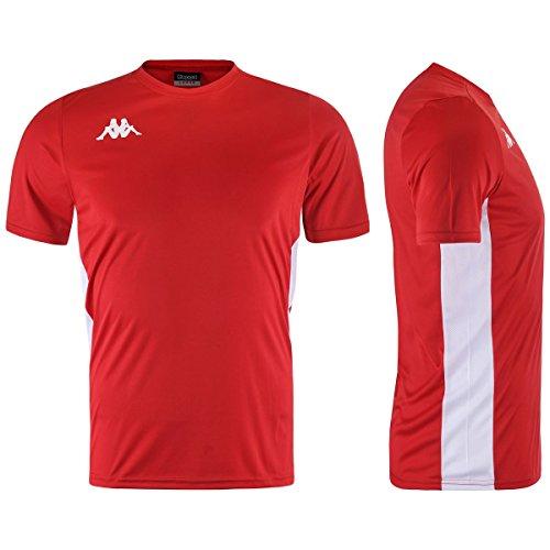Kappa WENET Camiseta, Rojo, Estándar para Hombre