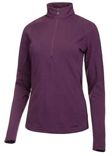 Medico Damen Ski Shirt Langarm Stehkragen Reißverschluss Elastisch Lila 38