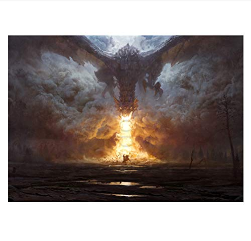 ACUOHU Canvas Painting Game of Thrones Season 7 Poster Modern Style Wall Art Poster Vintage Wall Sticker Prints Art Mural (40X60Cm) Hg515 Sin Marco