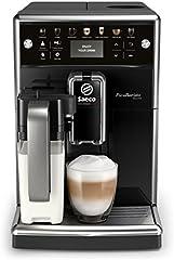 Philips Saeco PicoBaristo Deluxe SM5570/10 - Cafetera Súper Automática, 13 Bebidas de Café Personalizables, Jarra de Leche Integrada, Limpieza automatica, Molinillo Ceramico, Acabado Premium