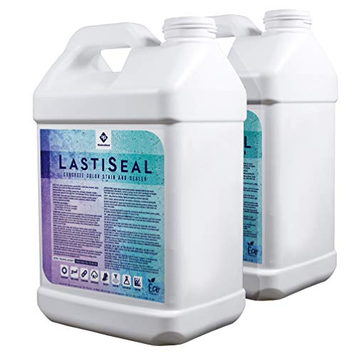 LastiSeal Concrete Stain & Sealer (5-gal.) - Waterproofs & Stains Concrete in One Step! (Dark Grey)