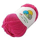 TwoCC-Lana,paquete esencial de bolas de lana suave - Hilo de algodón con leche...