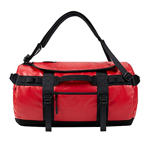 KALIDI 70L Duffle Bag Sports Holdall Backpack Shoulder Bag Waterproof for Camping,Hiking,Travelling,Gym,65x36cm,Red