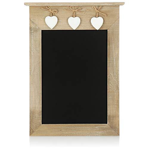 com-four Lavagna per promemoria - Lavagna da Appendere - Piccola Lavagna Decorativa per Scrivere - 38,5 x 28,5 cm (01 Pezzo - 38,5 x 28,5 cm)