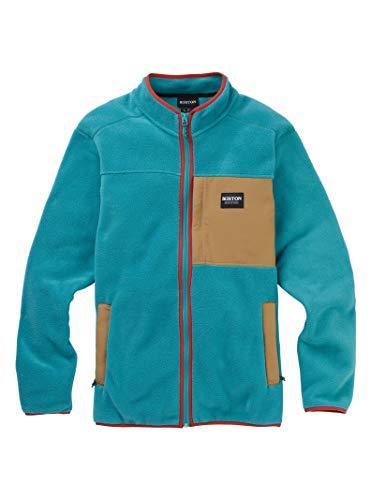 Burton Herren Hearth Fleece Pullover, Green-Blue Slate/Kelp, XS