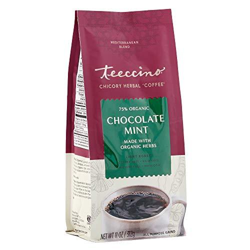 Teeccino - Light Roast Naturally Caffeine Free Herbal Coffee Chocolate Mint - 11 oz.