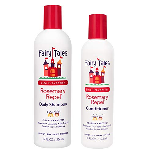 Fairy Tales Rosemary Repel Creme 12 oz. Shampoo + 8 oz. Conditioner (Combo Deal) by Fairy Tales BEAUTY (English Manual)