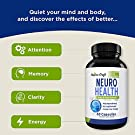 Nootropics Brain Supplement Support - Memory Booster for Mind Focus Reduce Anxiety - DMAE Pills for Concentration Improve Brain Function, Neuro & IQ with Bacopa Monnieri L-Glutamine for Men and Women #2