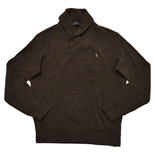 mens polo sweaters Ralph Lauren Men's Shawl Neck Estate Long Sleeve Rib Sweater
