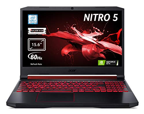 "Acer Nitro 5 AN515-54-76NQ Notebook Gaming con Processore Intel Core i7-9750H, RAM da 16GB DDR4, 512GB PCIe NVMe SSD, Display 15.6"" FHD IPS LED LCD, NVIDIA GeForce GTX 1650 4GB GDDR5, Windows 10 Home"