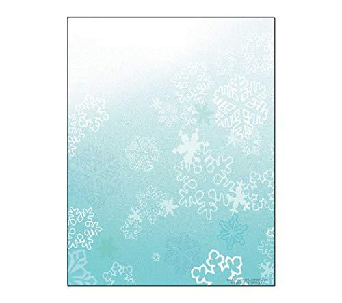 Snowflakes Holiday Stationery - Christmas Snowflak Letterhead - 8.5 x 11-60 Fun Letterhead Sheets (Snowflake)