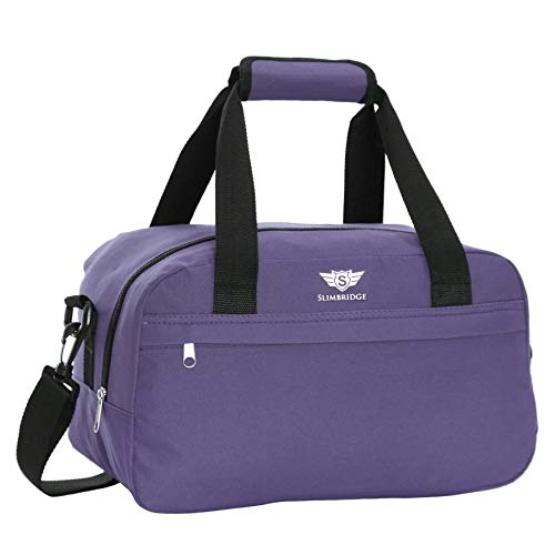 Slimbridge Cabin Carry-On Under The Seat Hand Luggage Travel Bag Ultra Lightweight 35 cm 250 Grams 14 litres with Shoulder Strap for Ryanair Second Bags, Mora Purple